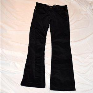 Black Cord Bootleg Pants
